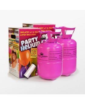 pack de dos bombonas de helio mini